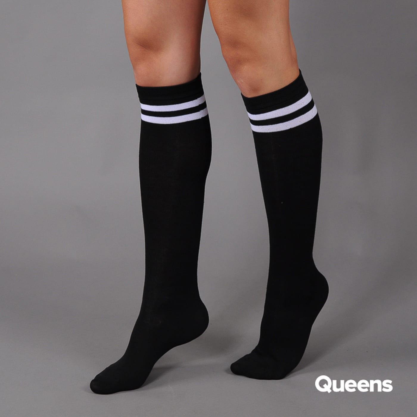 Urban Classics Ladies College Socks schwarz / weiß