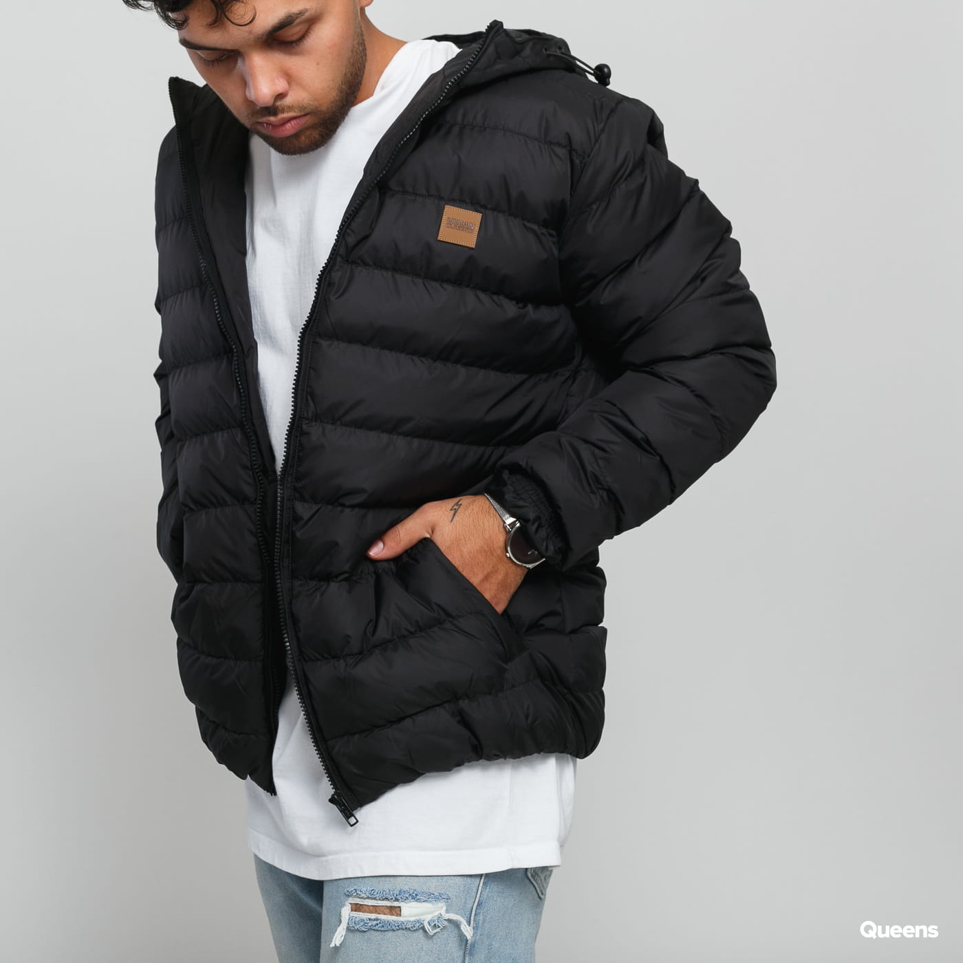 Urban Classics Basic Bubble Jacket black