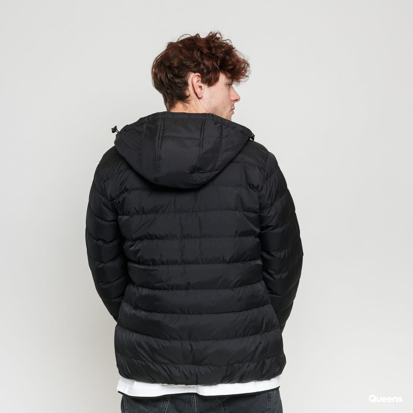 Urban Classics Basic Bubble Jacket schwarz / weiß
