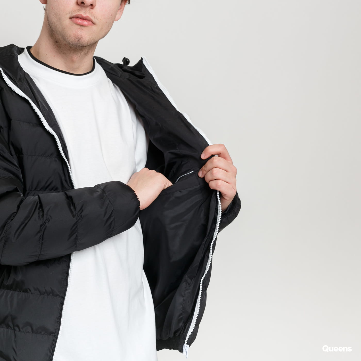 Urban Classics Basic Bubble Jacket black / white