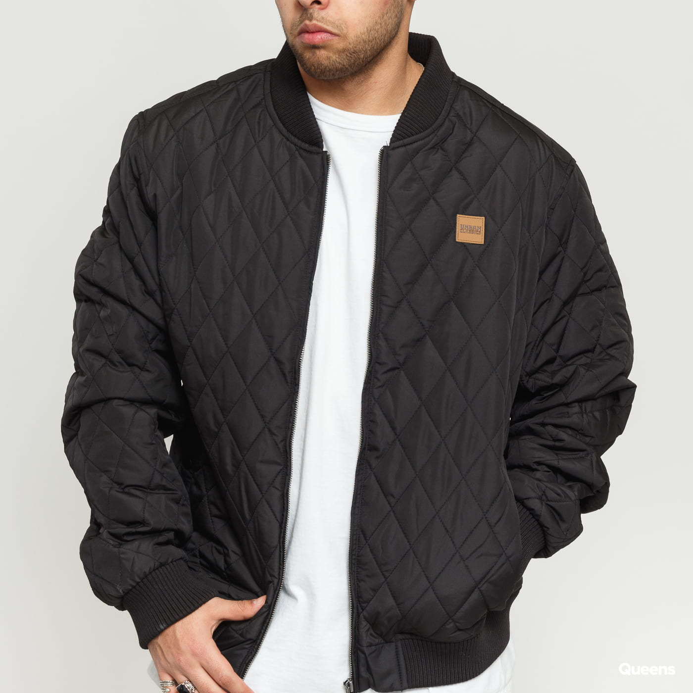 Urban Classics Diamond Quilt Nylon Jacket schwarz
