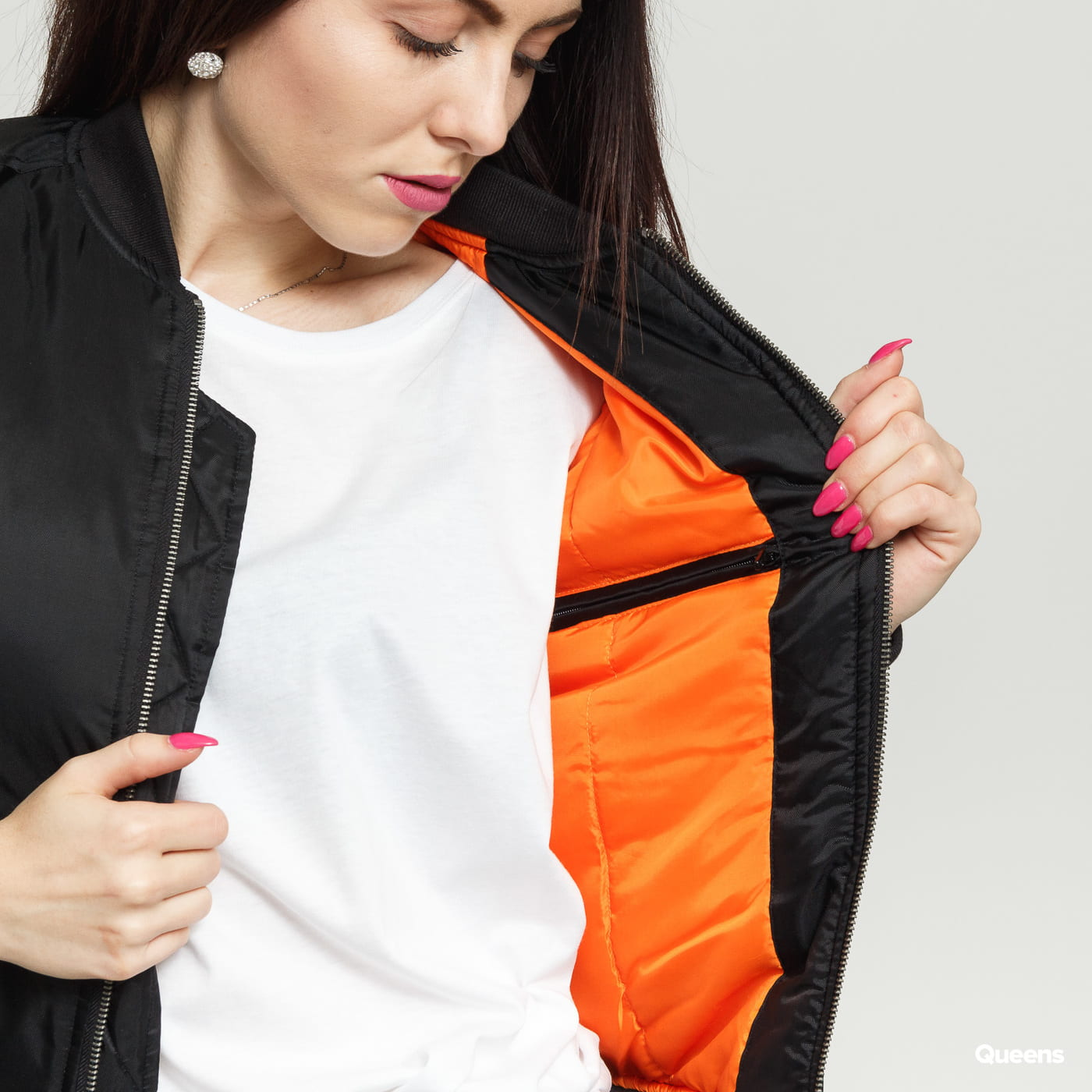 Urban Classics Ladies Basic Bomber Jacket čierna