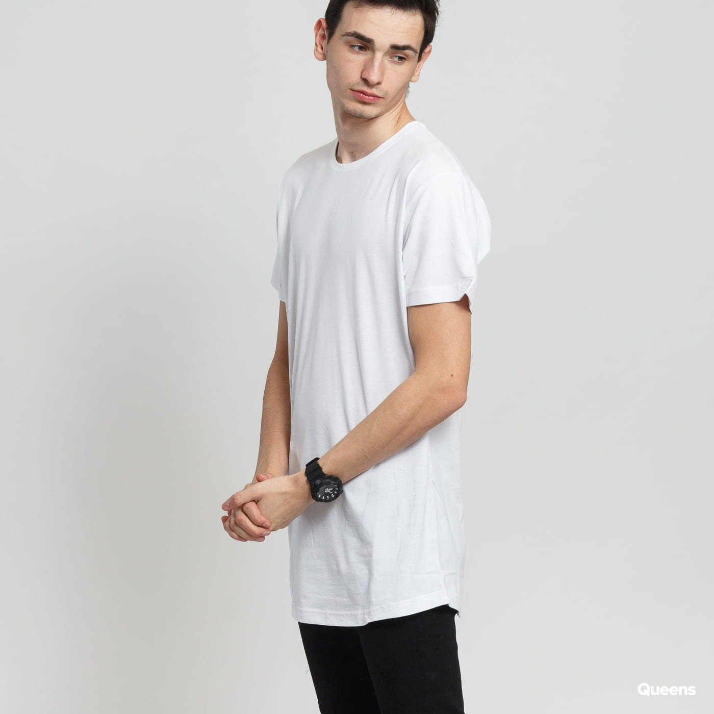 Urban Classics Shaped Long Tee white