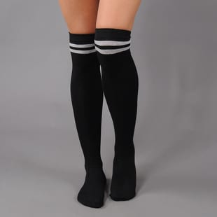 Urban Classics Ladies Overknee Socks 2-Pack