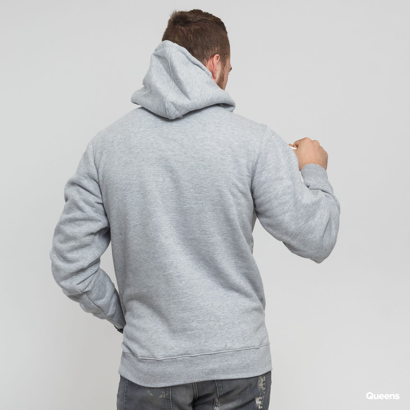 Mass DNM Base Hoody grey melange