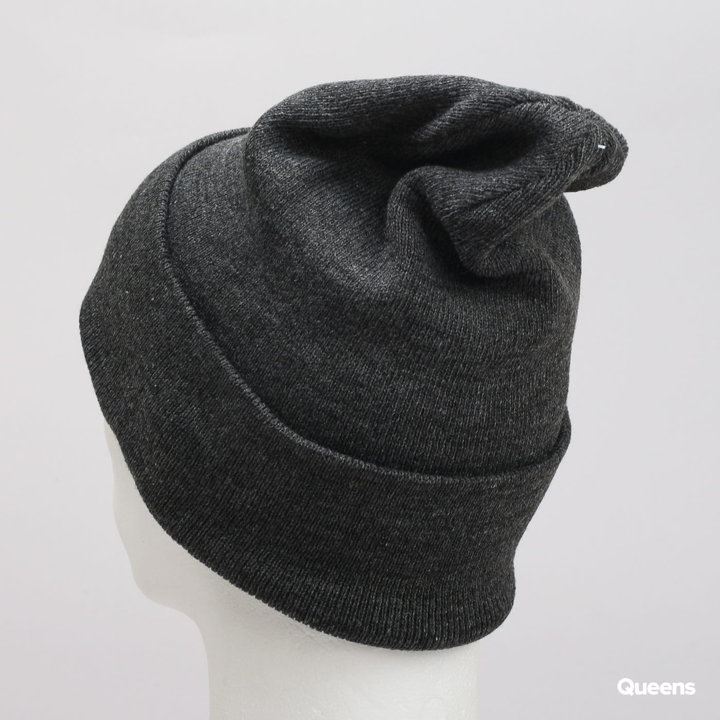 Urban Classics Leatherpatch Long Beanie dunkelgrau