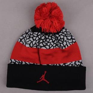 Air Jordan Jumpman Striped Beanie černý   červený   šedý ff2756b9f8