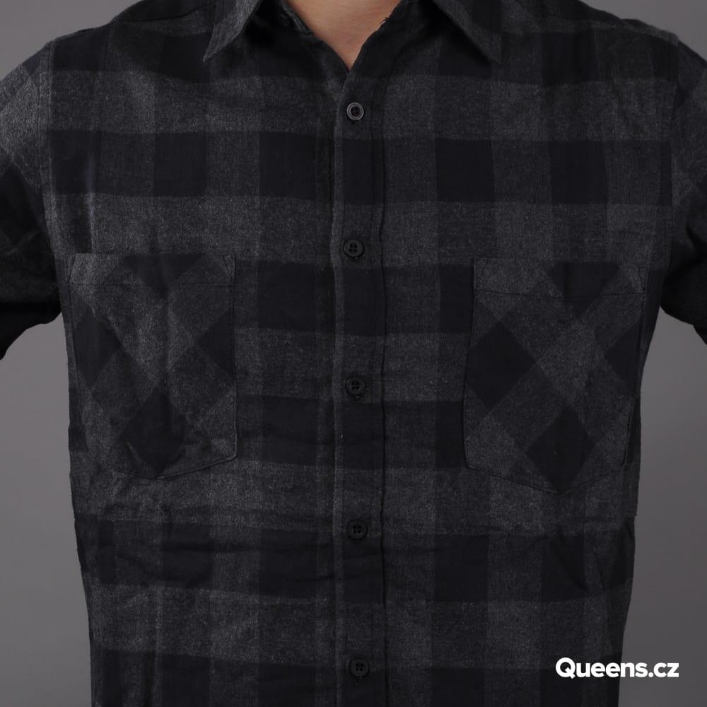 Urban Classics Checked Flanell Shirt čierna / tmavošedá