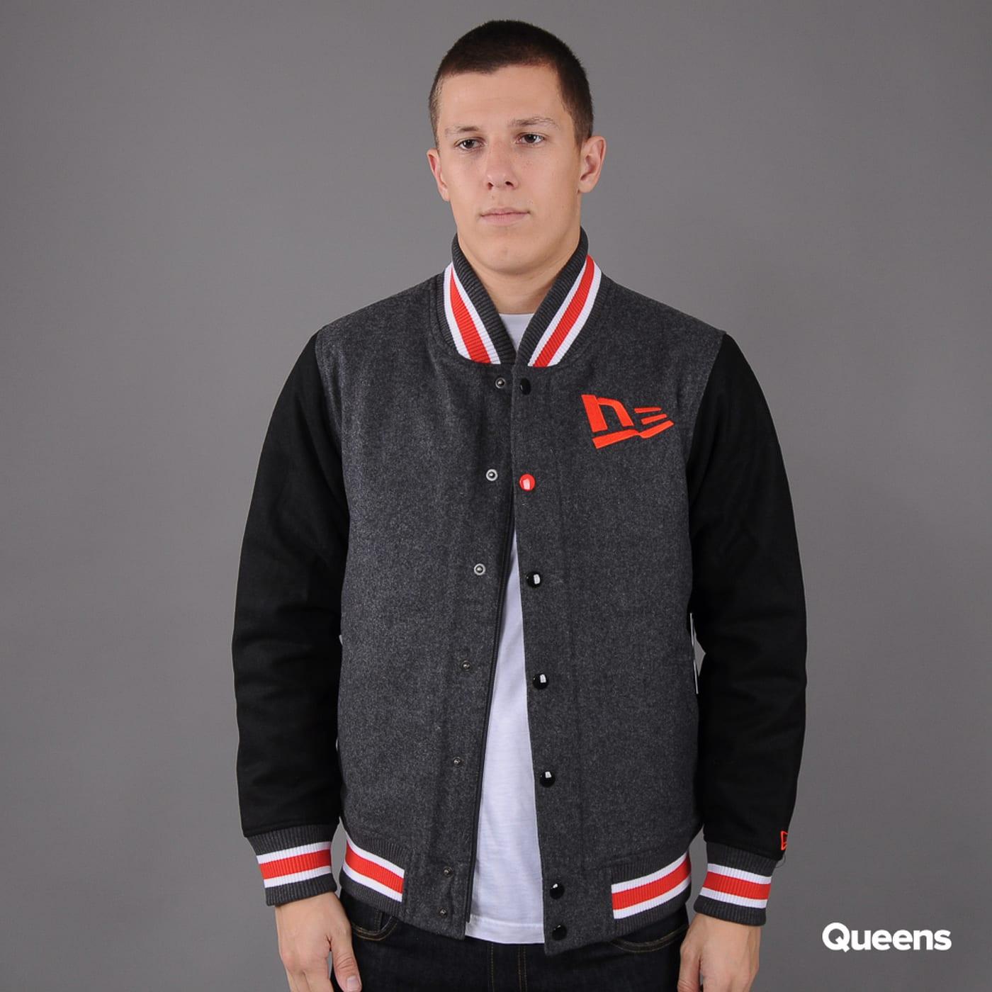 New Era FF Varsity Jacket melange dark gray