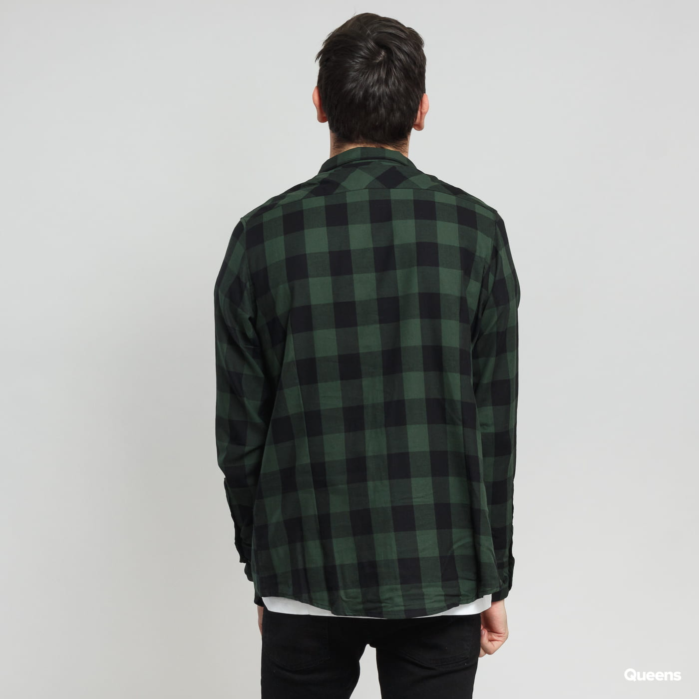 Urban Classics Checked Flanell Shirt black / dark green