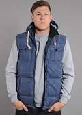 Urban Classics Chambray Lined Melange Bubble Vest