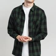 Urban Classics Checked Flanell Shirt černá / tmavě zelená