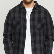 Urban Classics Checked Flanell Shirt black / dark gray