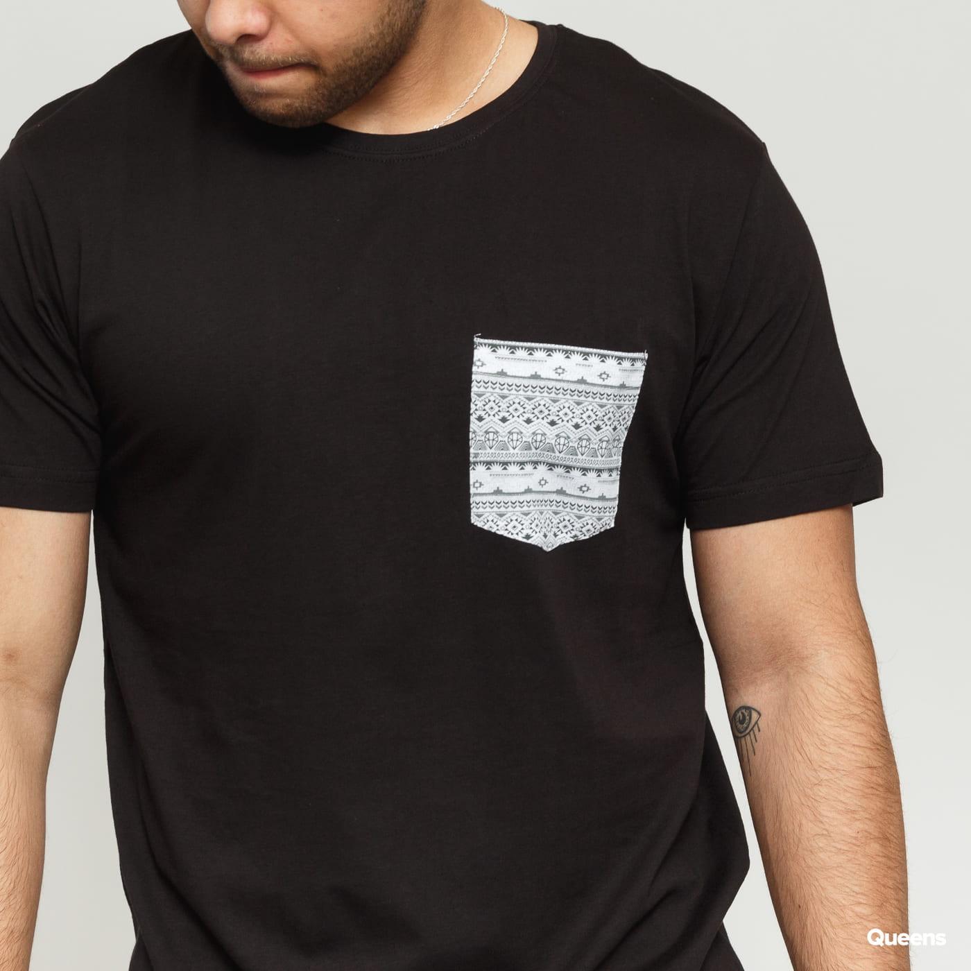 Urban Classics Contrast Pocket Aztec Tee black