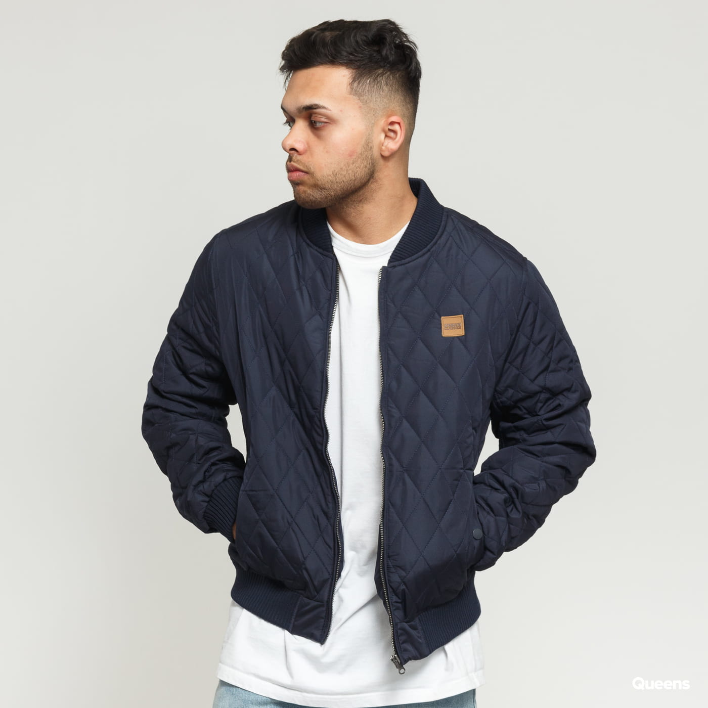 Urban Classics Diamond Quilt Nylon Jacket Marine