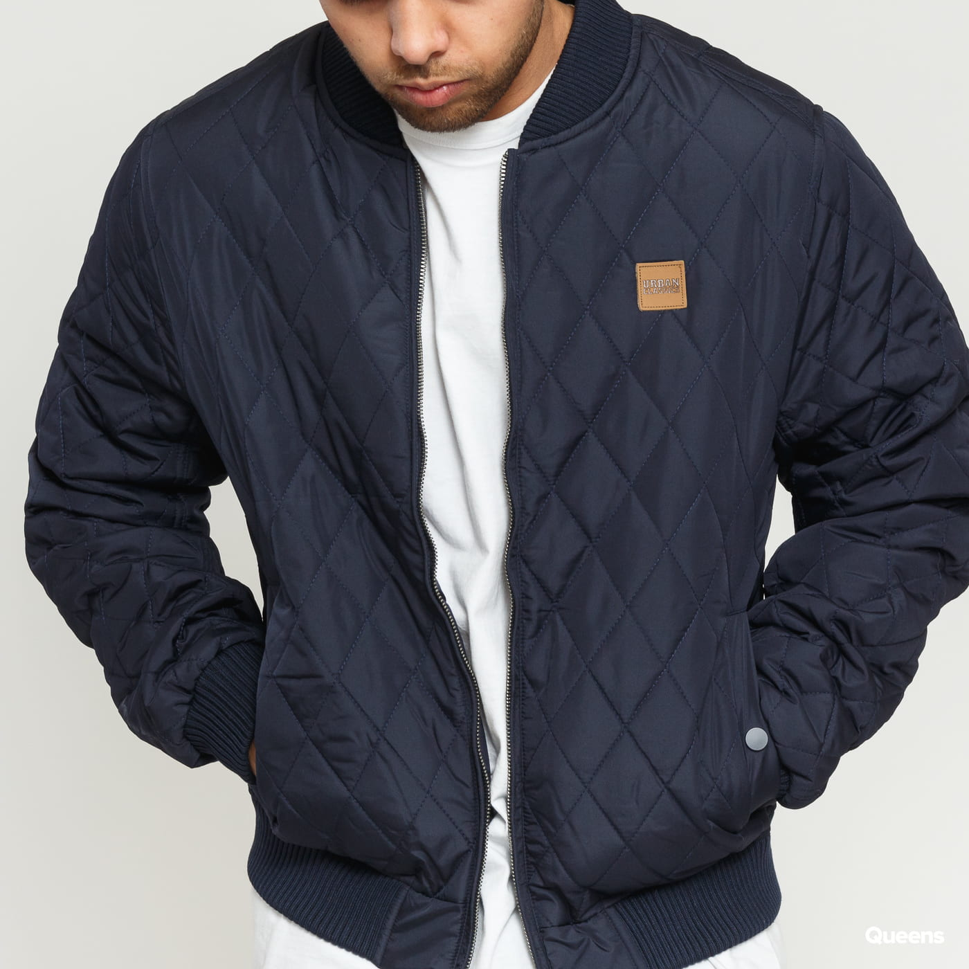 Urban Classics Diamond Quilt Nylon Jacket navy