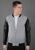 Urban Classics Zipped Leather Imitation Sleeve Jacket