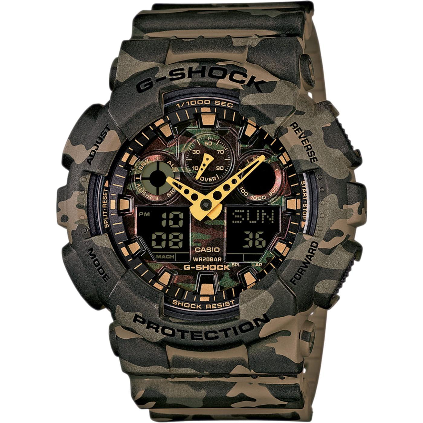 Casio G-Shock GA 100CM-5A braun camouflage