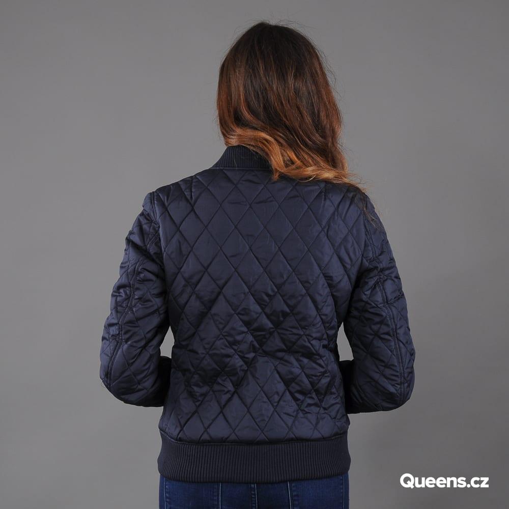 Urban Classics Ladies Diamond Quilt Nylon Jacket Marine