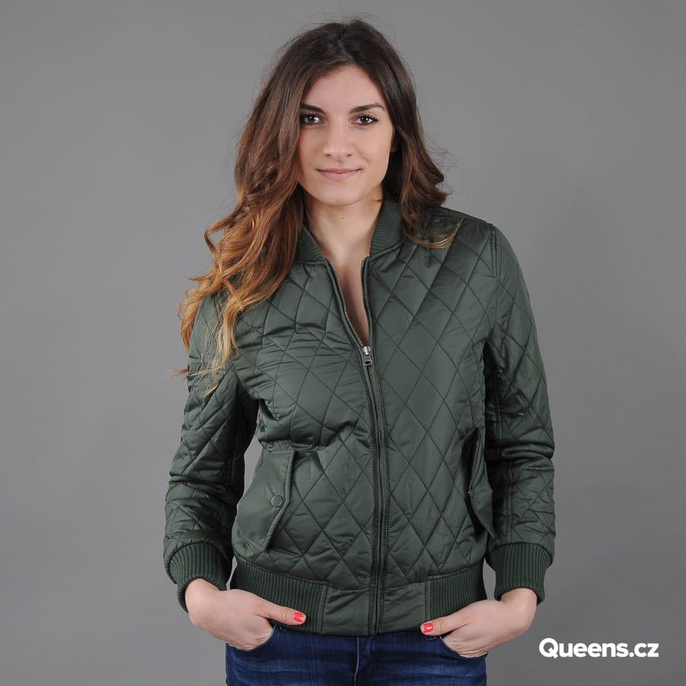Urban Classics Ladies Diamond Quilt Nylon Jacket olive