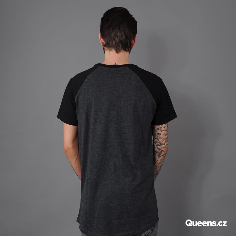 Urban Classics Shaped Raglan Long Tee dark gray / black