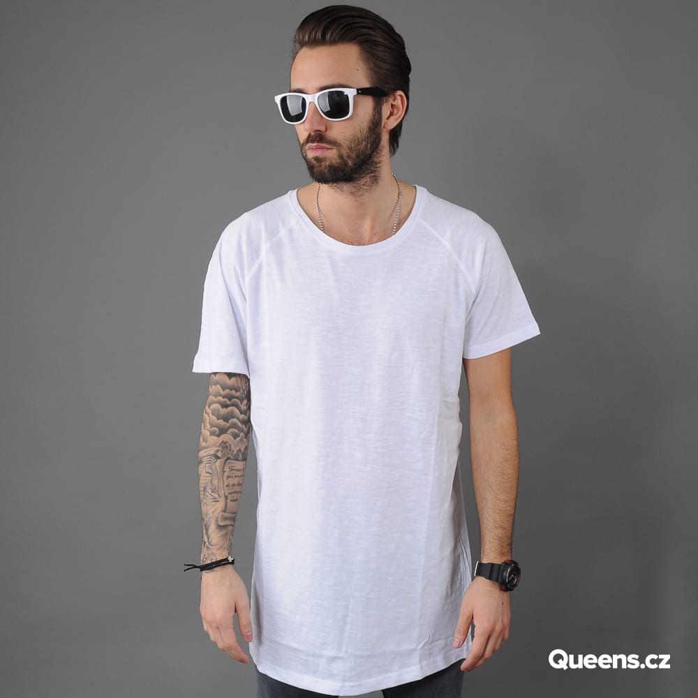 Urban Classics Long Shaped Slub Raglan weiß