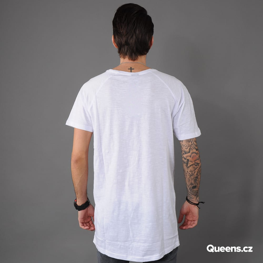 Urban Classics Long Shaped Slub Raglan white