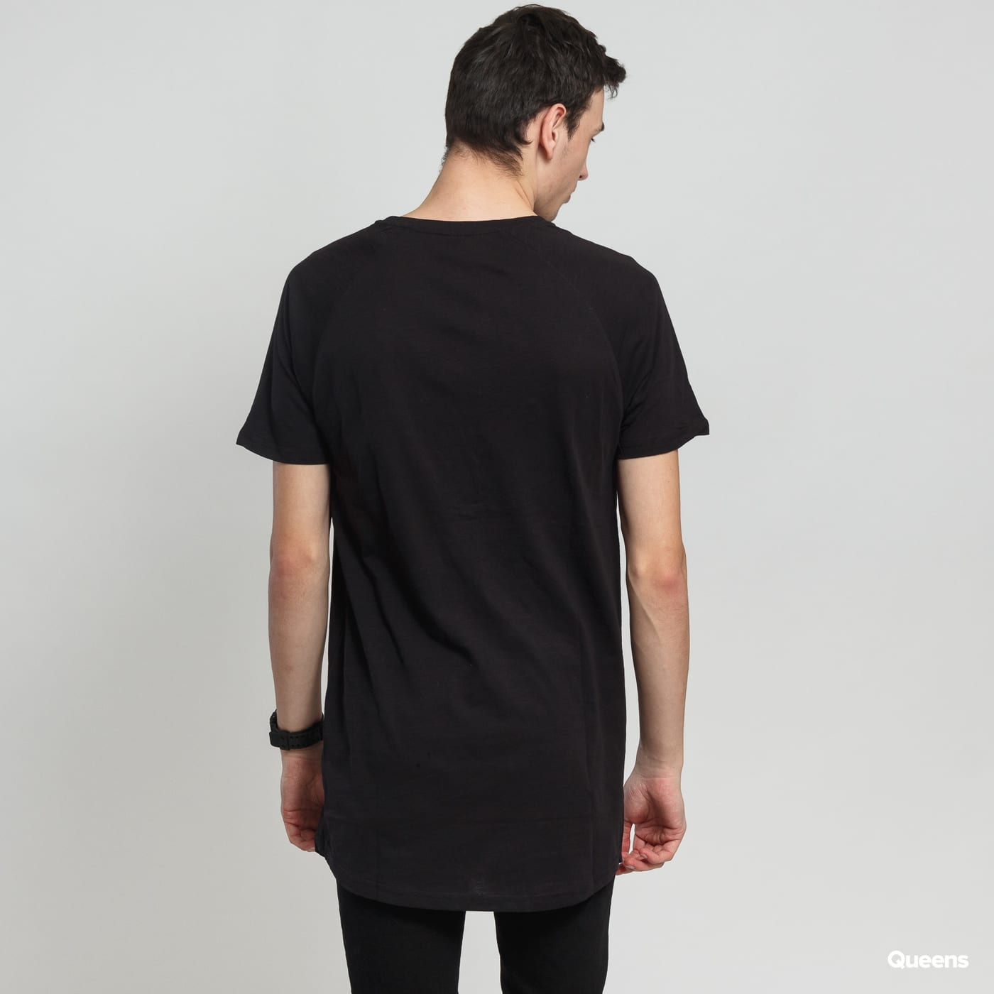 Urban Classics Long Shaped Slub Raglan schwarz