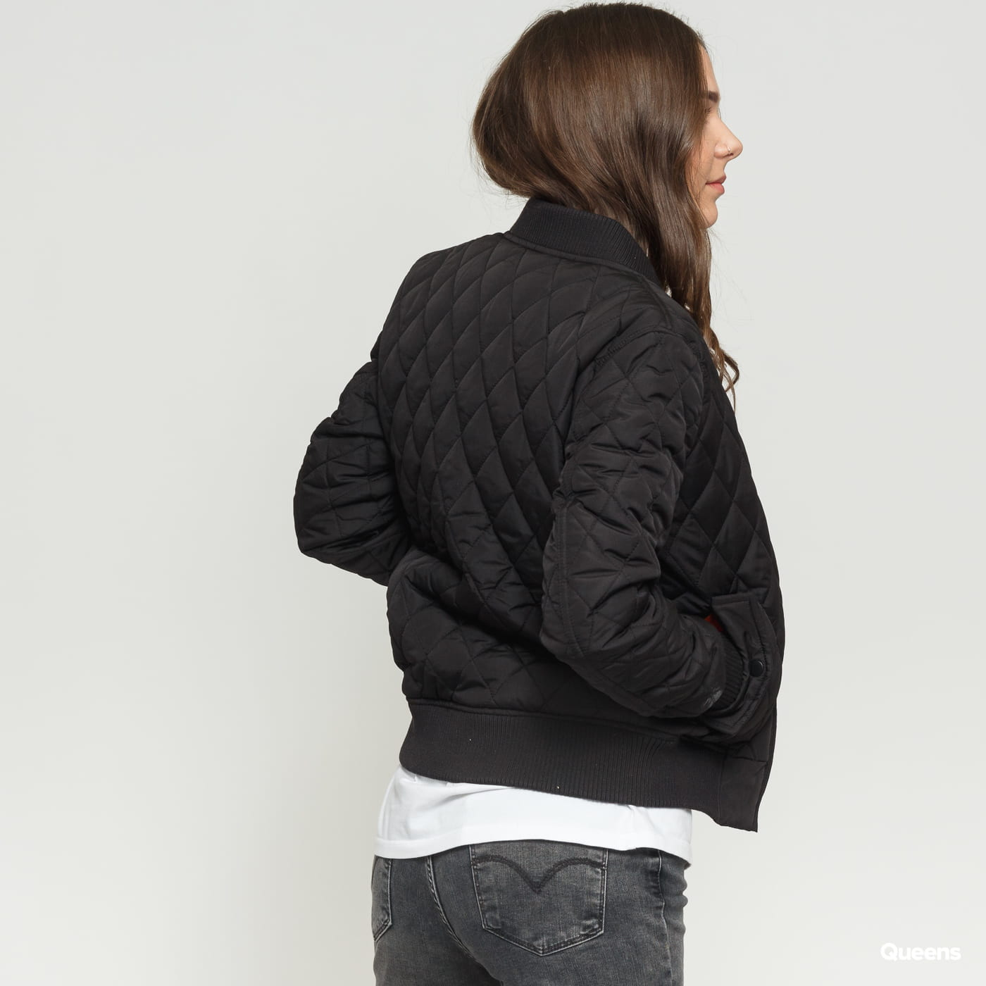 Urban Classics Ladies Diamond Quilt Nylon Jacket čierna