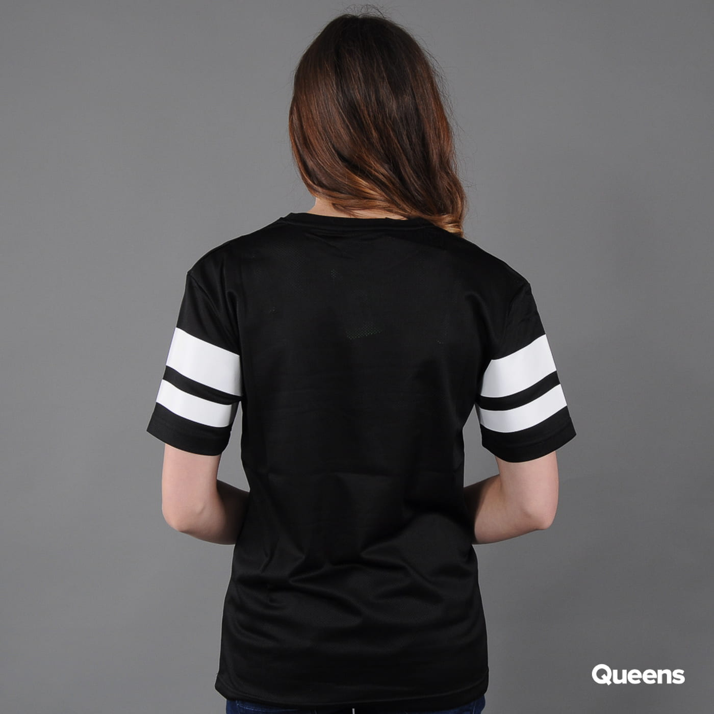 Urban Classics Ladies Stripe Mesh Tee black