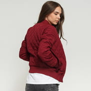 Urban Classics Ladies Diamond Quilt Nylon Jacket bordeaux