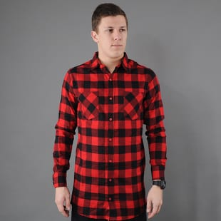 Urban Classics Side-Zip Long Checked Flanell Shirt