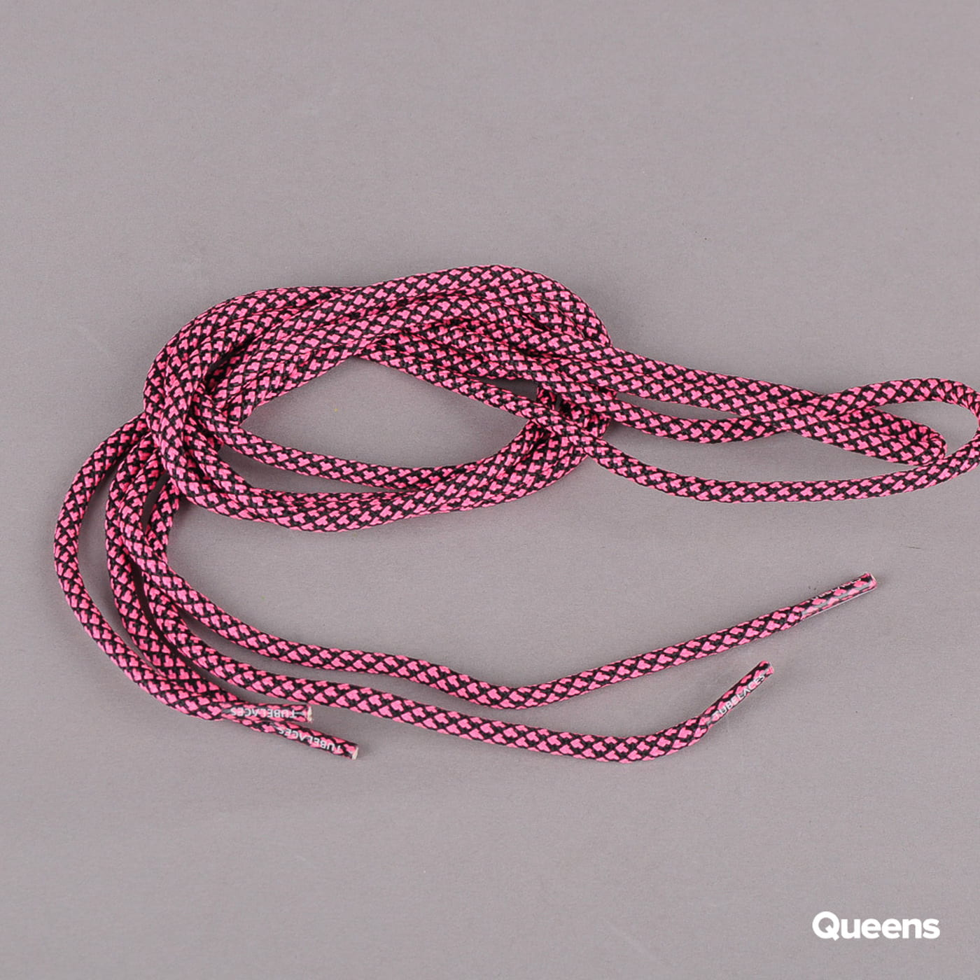 MD Tube Laces Rope Multi schwarz / neonrosa
