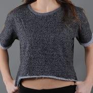 Urban Classics Ladies Melange Cropped Short Sleeve Crew melange černé