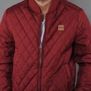 Urban Classics Diamond Quilt Nylon Jacket vínová