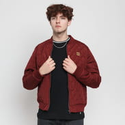 Urban Classics Diamond Quilt Nylon Jacket burgund