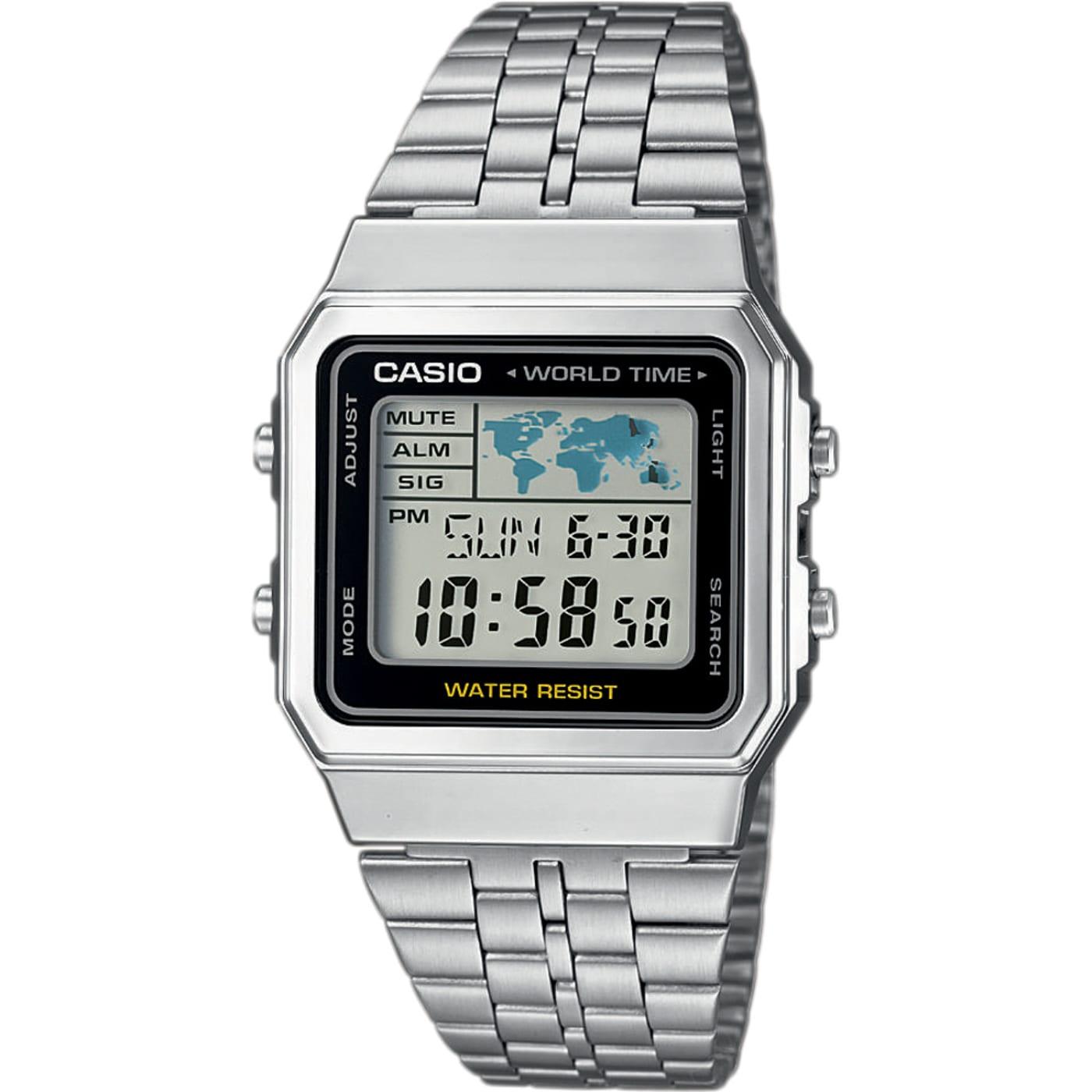 Casio A500WEA-1EF strieborné