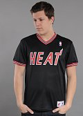 Mitchell & Ness #1 Spot Mesh Short Sleeve Miami Heat