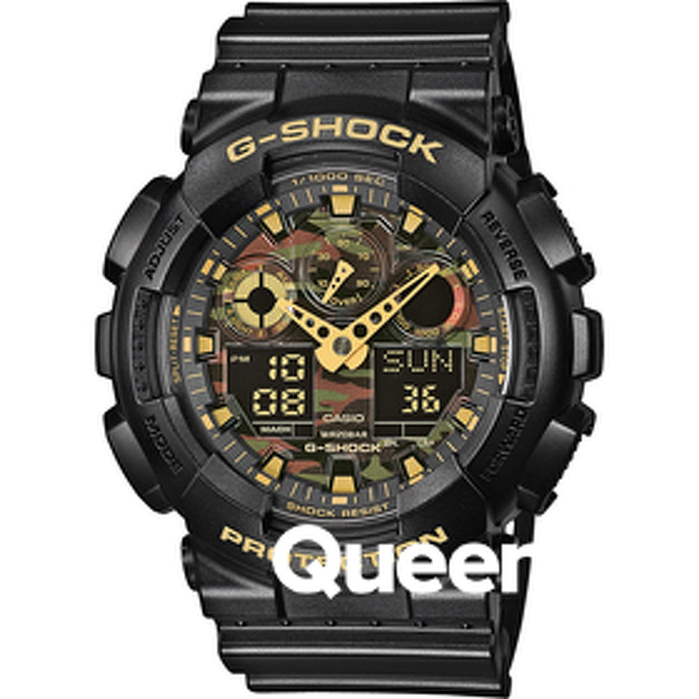 Casio G-Shock GA 100CF-1A9 black / camo
