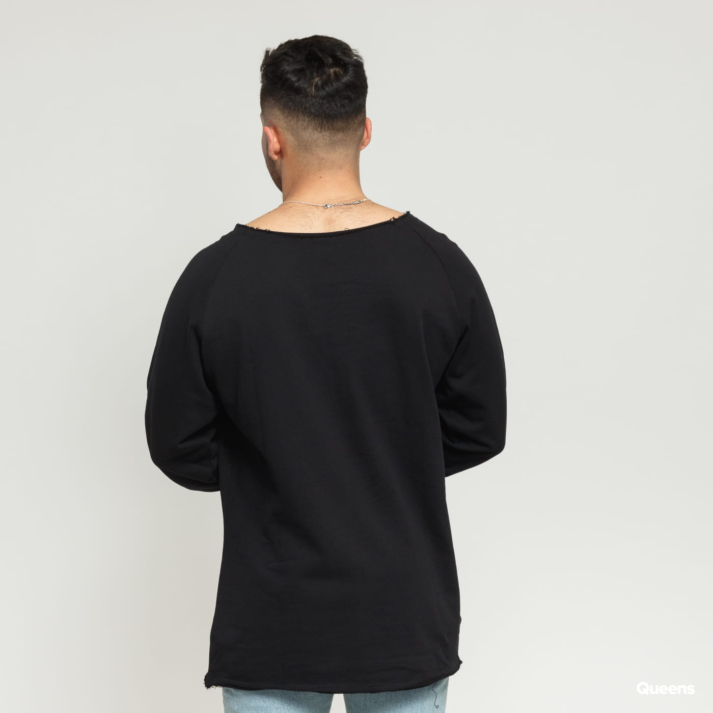 Urban Classics Long Open Edge Terry Crewneck black