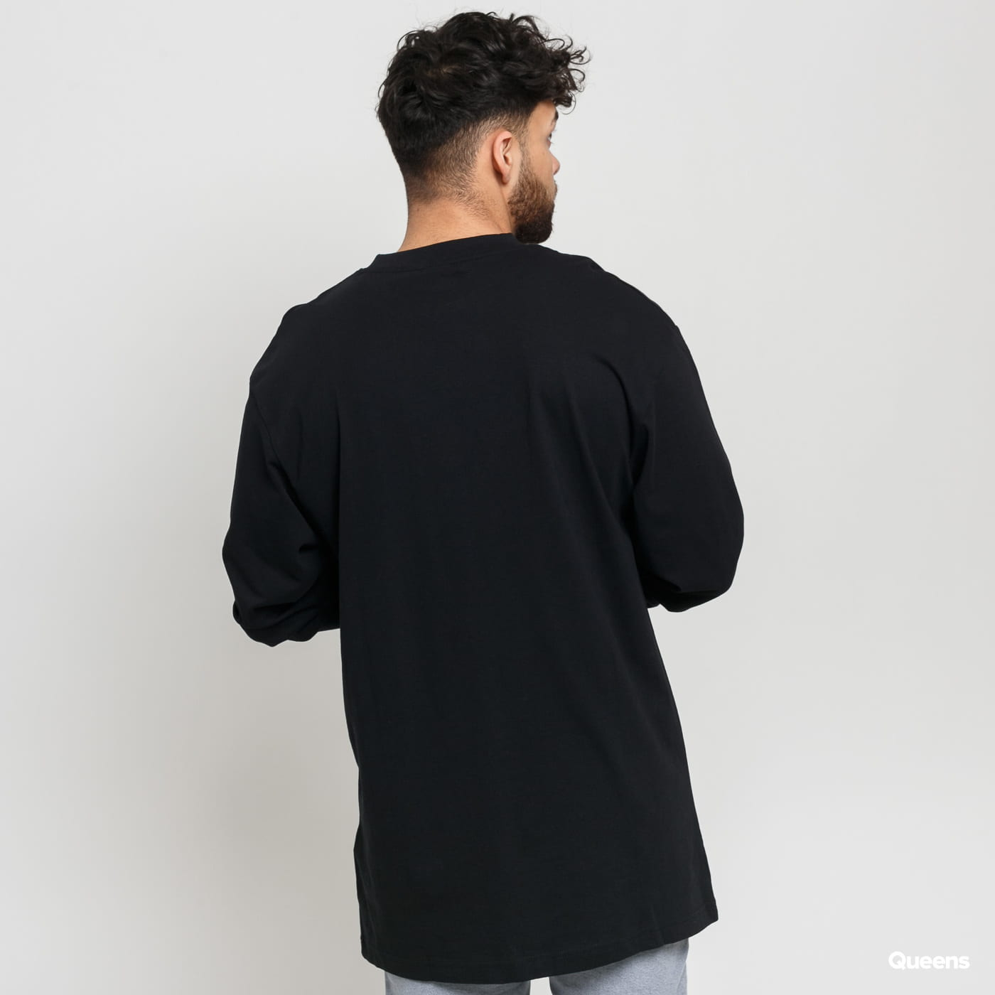 Urban Classics Tall Tee L/S čierne