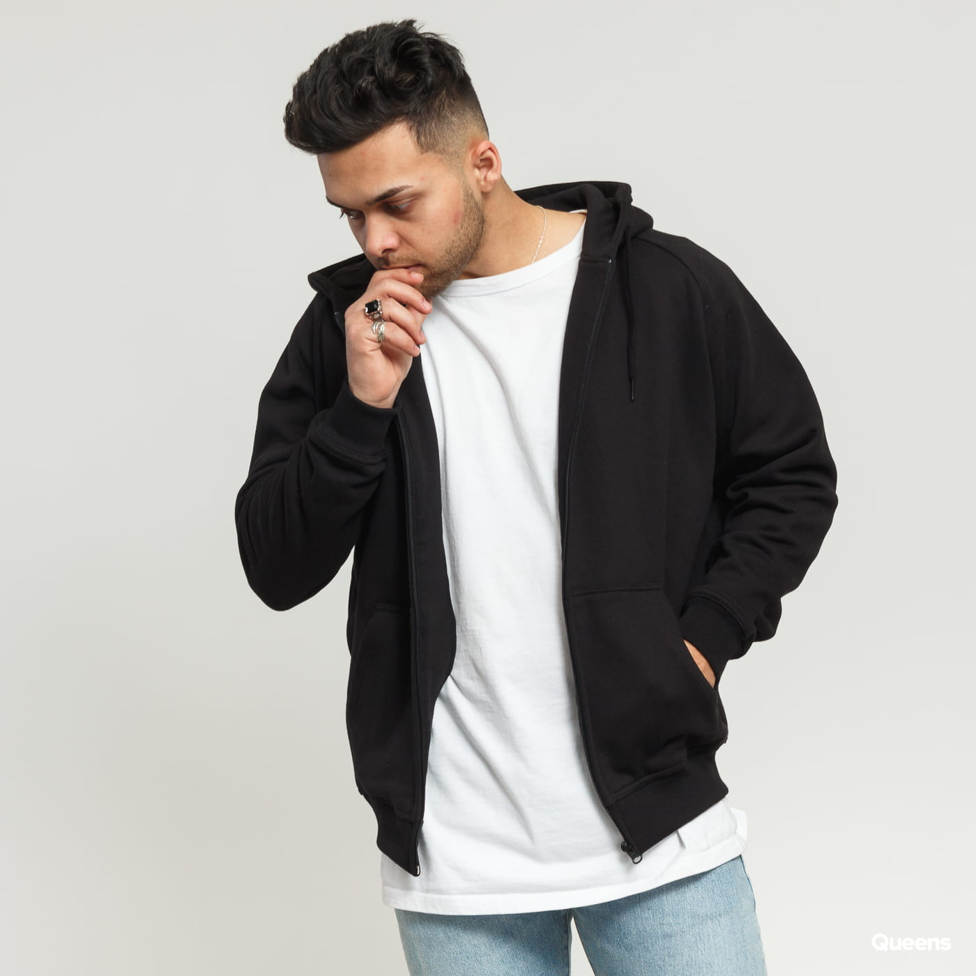 Urban Classics Zip Hoody black