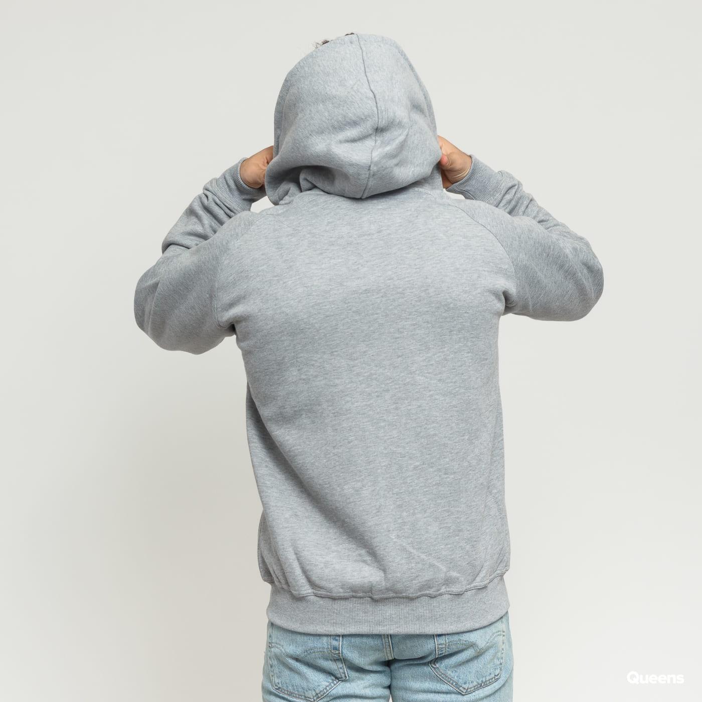 Urban Classics Zip Hoody melange gray