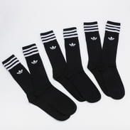 adidas Originals 3Pack Solid Crew Sock schwarz / weiß