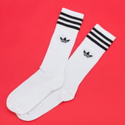 adidas Solid Crew Sock biele / čierne