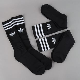 adidas 3Pack Solid Crew Sock