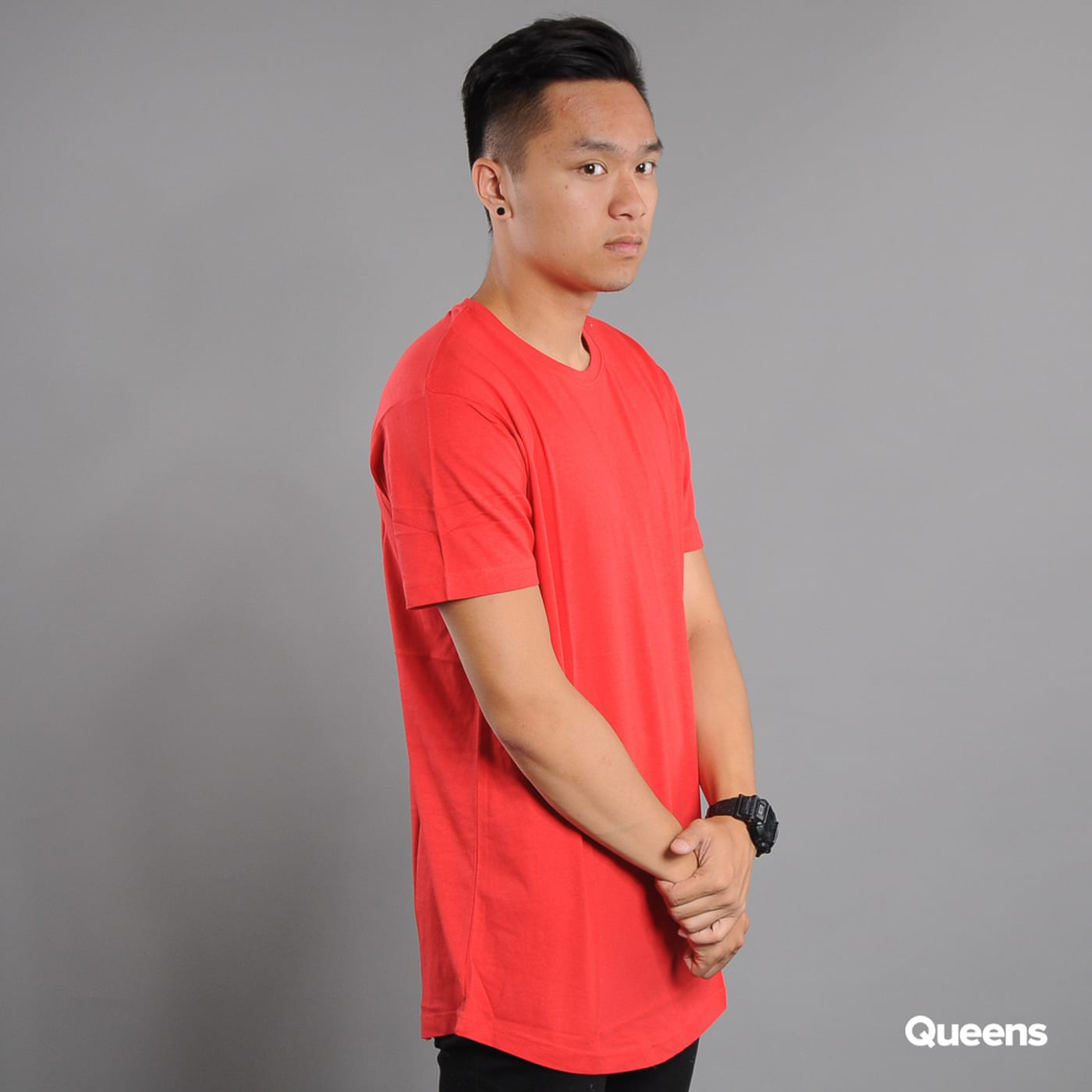 Urban Classics Shaped Long Tee red
