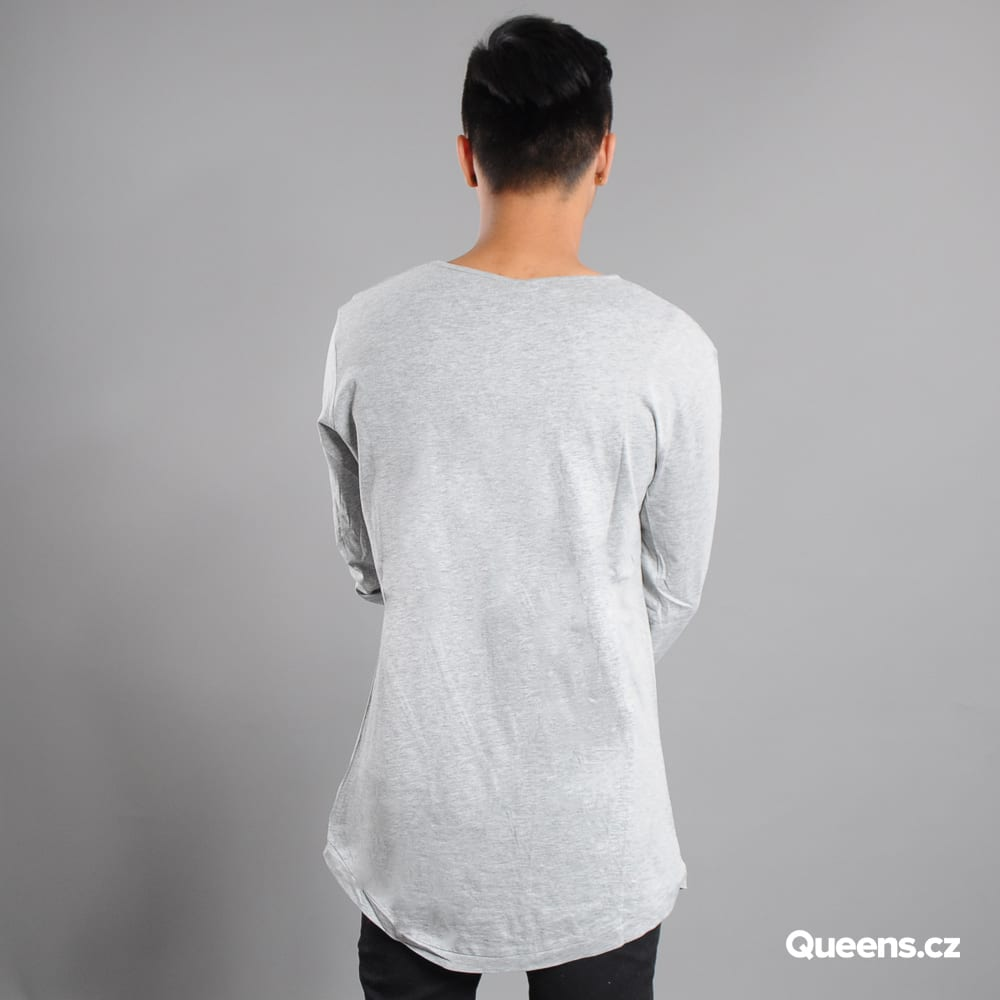 Urban Classics Long Shaped Fashion L/S melange gray