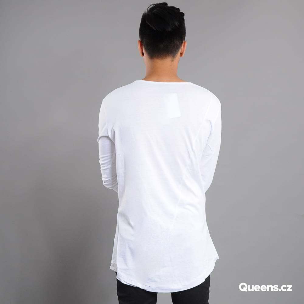 Urban Classics Long Shaped Fashion L/S white