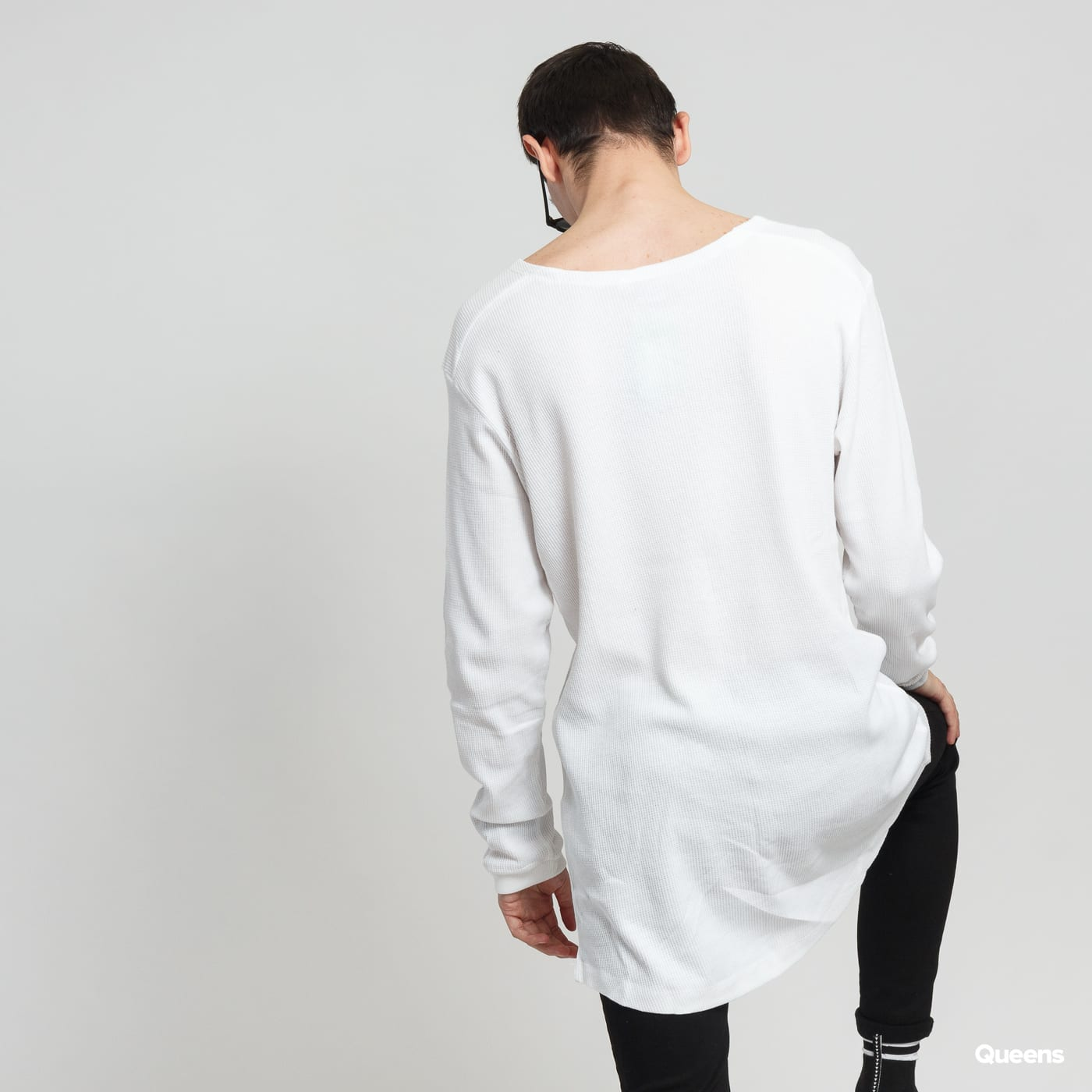 Urban Classics Long Shaped Waffle L/S Tee white